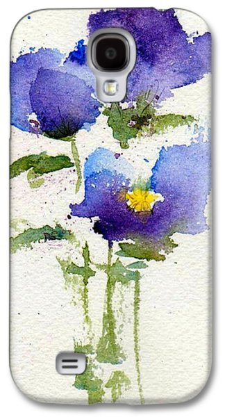 Violet Galaxy S4 Cases - Violets Galaxy S4 Case by Anne Duke