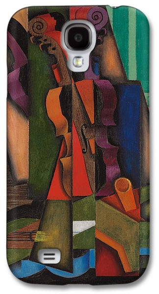 Violin And Guitar Galaxy S4 Case by Juan Gris