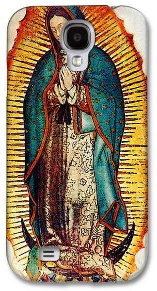 Religious Galaxy S4 Cases - Virgen de Guadalupe Galaxy S4 Case by Bibi Romer