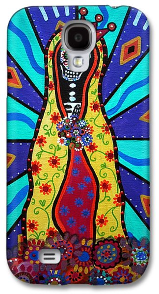 Carter House Galaxy S4 Cases - Virgin Guadalupe Day Of The Dead Galaxy S4 Case by Pristine Cartera Turkus
