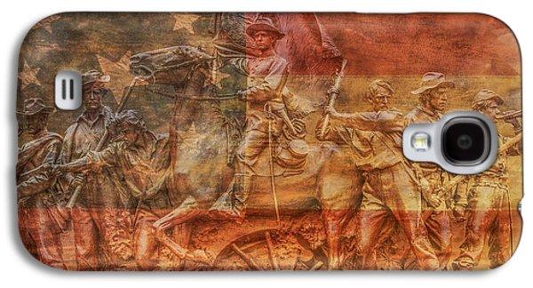 Virginia Monument At Gettysburg Battlefield Galaxy S4 Case by Randy Steele
