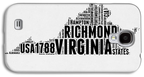 Virginia Word Cloud Map 2 Galaxy S4 Case by Naxart Studio
