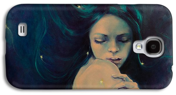 Constellations Paintings Galaxy S4 Cases - Virgo Galaxy S4 Case by Dorina  Costras