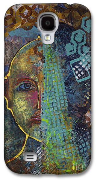 Abstract Digital Paintings Galaxy S4 Cases - Virtual portrait Galaxy S4 Case by Vipula Saxena