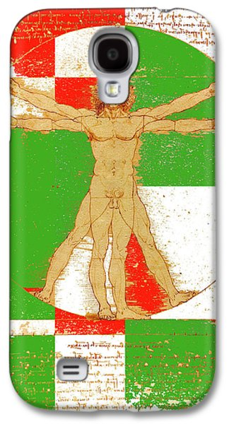 Vitruvian Man In Color Galaxy S4 Case by Vadim Goodwill