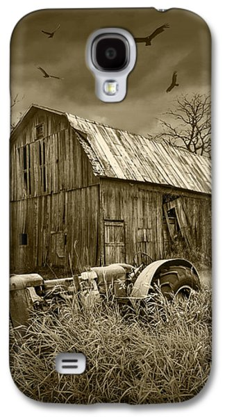 Vultures Circling The Old Barn Galaxy S4 Case by Randall Nyhof