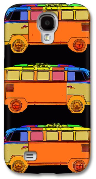 Colorful Abstract Galaxy S4 Cases - VW Surfer Van 3X Galaxy S4 Case by Edward Fielding