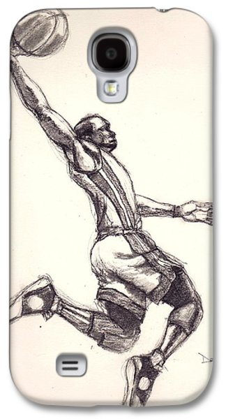 Dwyane Wade Galaxy S4 Cases - Wade the Gladiator Galaxy S4 Case by Dallas Roquemore