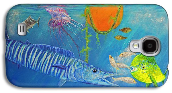 Wahoo Dolphin Painting Galaxy S4 Case by Ken Figurski