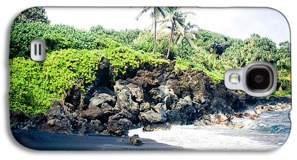 My Ocean Galaxy S4 Cases - Waianapanapa Black Sand Beach Pailoa Bay Hana Maui Hawaii Galaxy S4 Case by Sharon Mau