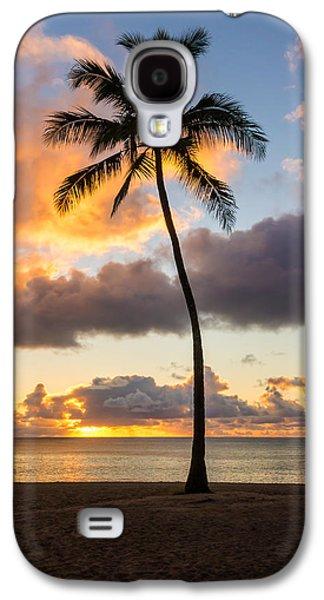 Landmarks Photographs Galaxy S4 Cases - Waimea Beach Sunset 2 - Oahu Hawaii Galaxy S4 Case by Brian Harig