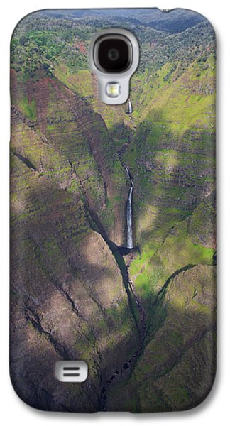 Green Galaxy S4 Cases - Waimea Canyon Falls Galaxy S4 Case by Steven Lapkin