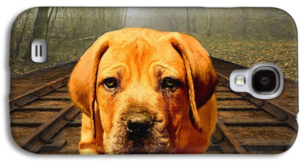 Puppy Digital Galaxy S4 Cases - Waiting By the Tracks Galaxy S4 Case by EricaMaxine  Price