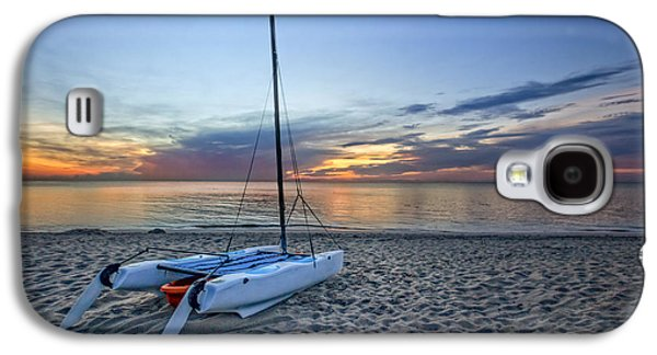 Waterscape Galaxy S4 Cases - Waiting for Sunrise Galaxy S4 Case by Debra and Dave Vanderlaan