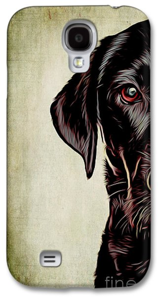 Dogs Digital Art Galaxy S4 Cases - Waiting Galaxy S4 Case by Larry Espinoza