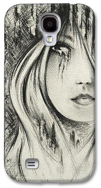 Tear Drawings Galaxy S4 Cases - Waiting Galaxy S4 Case by Rachel Christine Nowicki