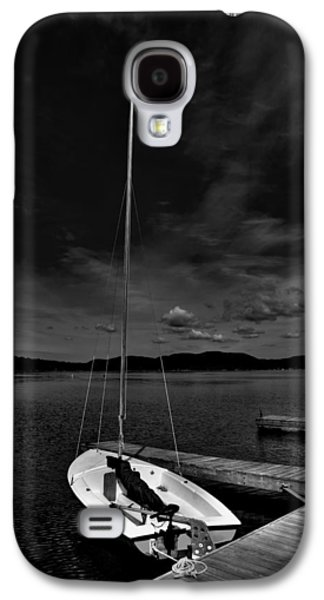 Docked Sailboat Galaxy S4 Cases - Waiting to Sail on Fourth Lake Galaxy S4 Case by David Patterson