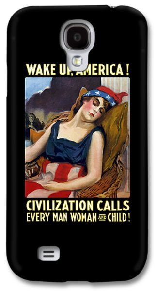 First Lady Mixed Media Galaxy S4 Cases - Wake Up America - Civilization Calls Galaxy S4 Case by War Is Hell Store