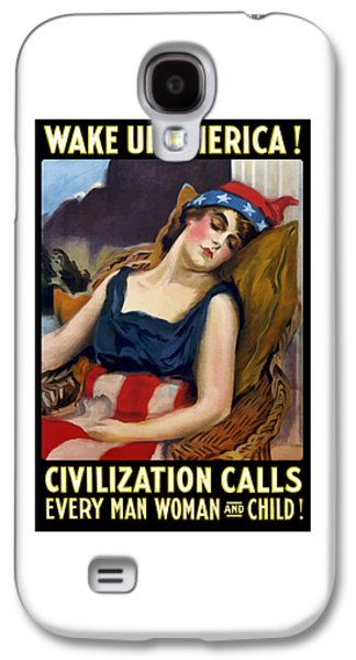 First Lady Galaxy S4 Cases - Wake Up America - Civilization Calls Galaxy S4 Case by War Is Hell Store