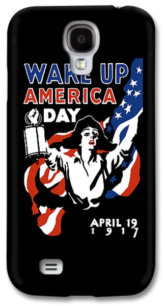 American Flag Mixed Media Galaxy S4 Cases - Wake Up America Day - WW1 Galaxy S4 Case by War Is Hell Store