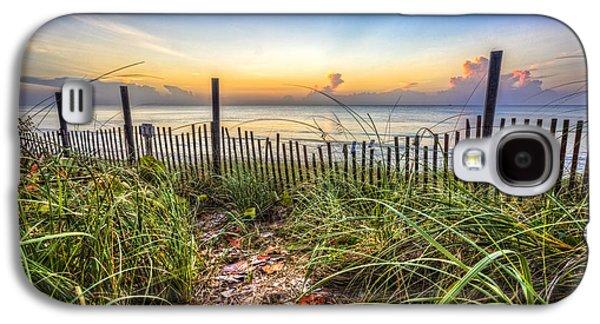Beach Landscape Galaxy S4 Cases - Walk along the Dunes Galaxy S4 Case by Debra and Dave Vanderlaan