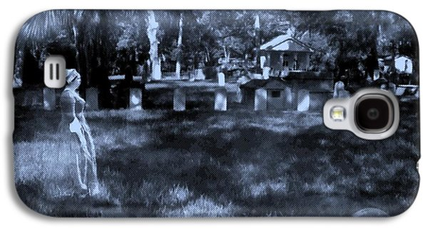 Creepy Galaxy S4 Cases - Walk In The Cemetery Galaxy S4 Case by D Hackett
