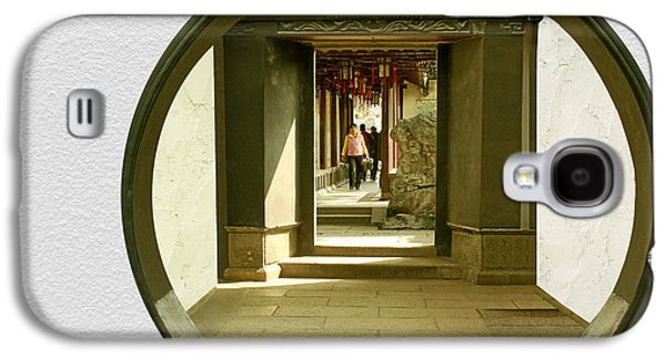 Entrance Door Galaxy S4 Cases - Walk into the light - Yuyuan Garden Shanghai China Galaxy S4 Case by Christine Till