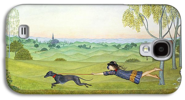 Walking The Dog  Galaxy S4 Case by Ditz