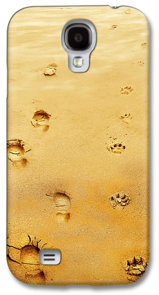 Dog Walking Galaxy S4 Cases - Walking the Dog Galaxy S4 Case by Mal Bray