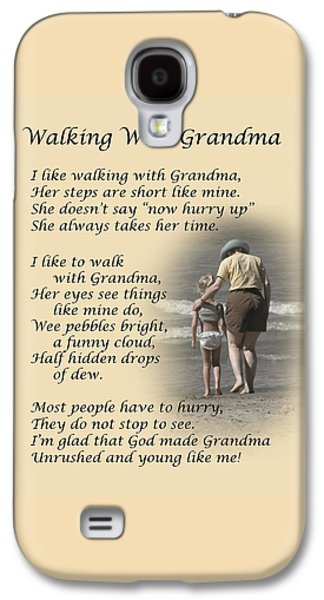 Greeting Card Photographs Galaxy S4 Cases - Walking With Grandma Galaxy S4 Case by Dale Kincaid