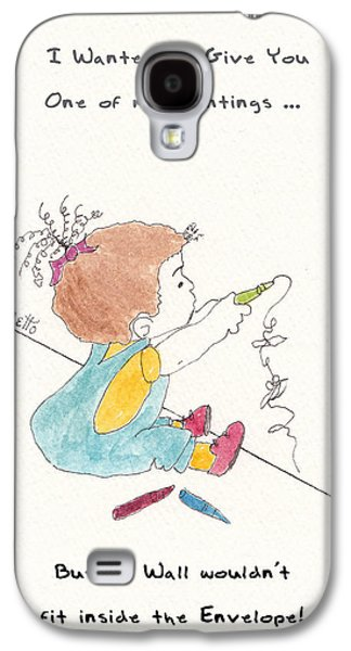 Animation Drawings Galaxy S4 Cases - Wall Art Galaxy S4 Case by Pamela Allegretto