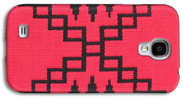 Indian Tapestries - Textiles Galaxy S4 Cases - War Path Red Galaxy S4 Case by Judy Hilbish