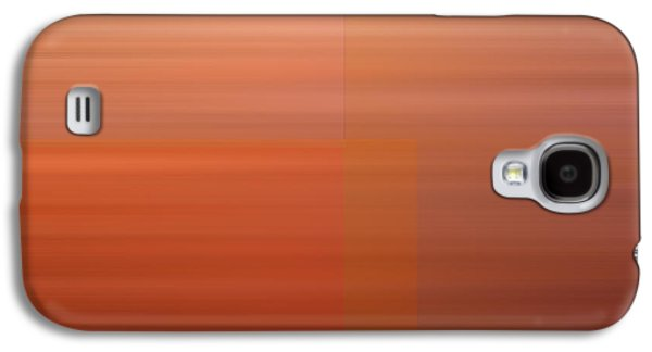 Warm Abstract Galaxy S4 Case by Leland D Howard
