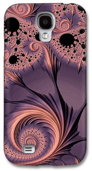 Abstract Digital Art Galaxy S4 Cases - Warm Indigo Galaxy S4 Case by Susan Maxwell Schmidt