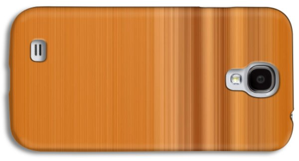 Abstract Movement Galaxy S4 Cases - Warm Line Galaxy S4 Case by Leland D Howard