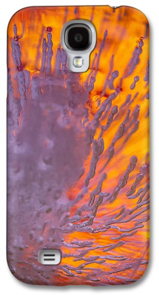 Modern Abstract Pyrography Galaxy S4 Cases - Warning Galaxy S4 Case by Artist Jacquemo