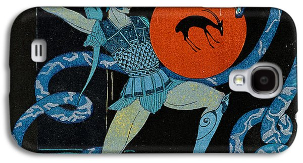 Reptiles Drawings Galaxy S4 Cases - Warrior Galaxy S4 Case by Georges Barbier