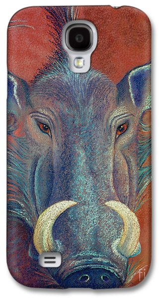 Orange Pastels Galaxy S4 Cases - Warthog Defiance Galaxy S4 Case by Tracy L Teeter