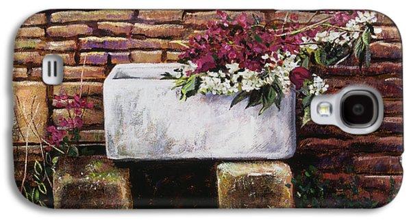 Wash Basin Flowers Galaxy S4 Case by David Lloyd Glover