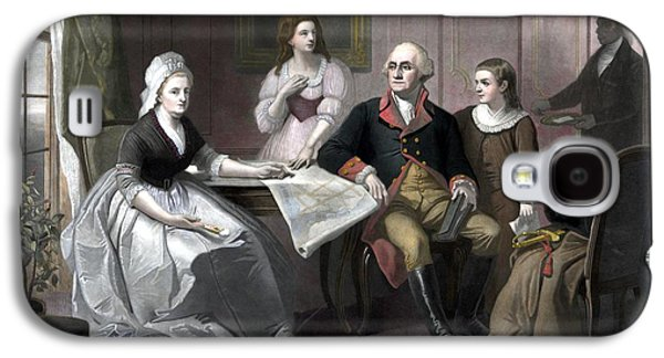 Presidential Galaxy S4 Cases - Washington And His Family Galaxy S4 Case by War Is Hell Store