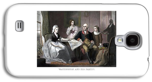 George Washington Galaxy S4 Cases - Washington And His Family Galaxy S4 Case by War Is Hell Store