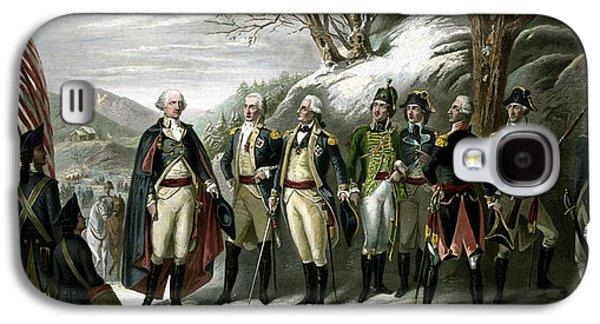 George Washington Galaxy S4 Cases - Washington and His Generals  Galaxy S4 Case by War Is Hell Store