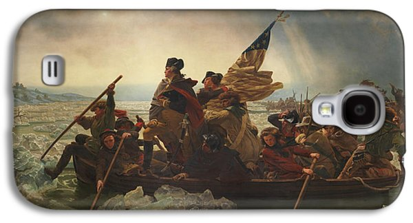 War Paintings Galaxy S4 Cases - Washington Crossing The Delaware Galaxy S4 Case by War Is Hell Store