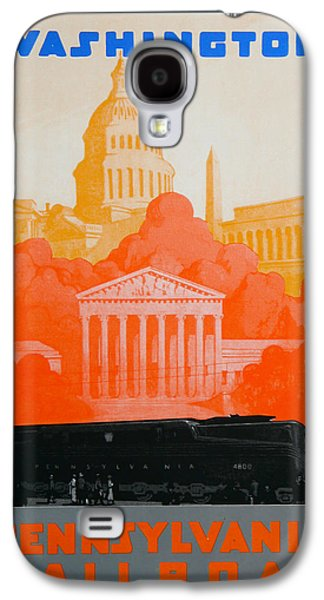 Landmarks Drawings Galaxy S4 Cases - Washington DC III Galaxy S4 Case by David Studwell