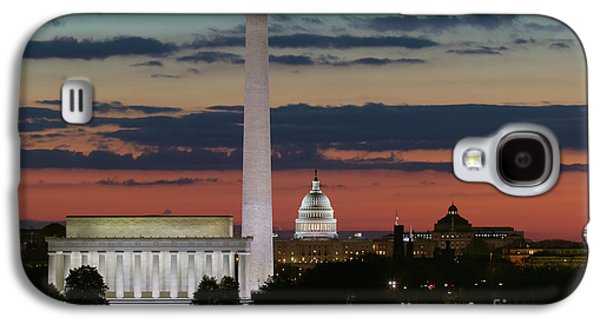Washington Dc Landmarks At Sunrise I Galaxy S4 Case by Clarence Holmes