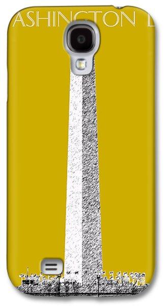 Washington Dc Skyline Washington Monument - Gold Galaxy S4 Case by DB Artist