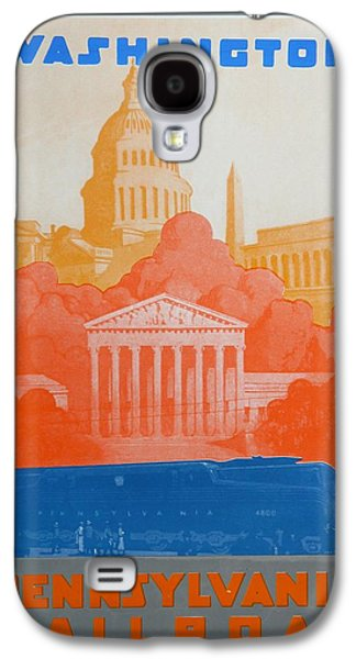Landmarks Drawings Galaxy S4 Cases - Washington DC V Galaxy S4 Case by David Studwell