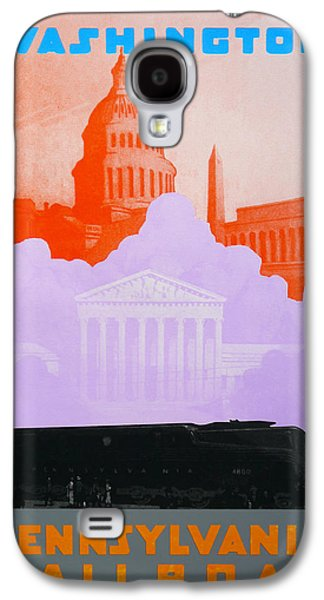 Landmarks Drawings Galaxy S4 Cases - Washington DC VI Galaxy S4 Case by David Studwell