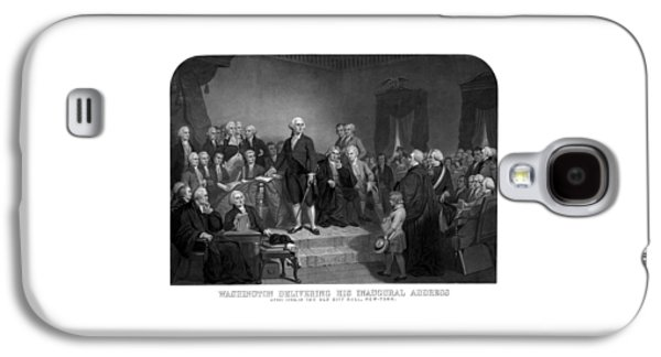 George Washington Galaxy S4 Cases - Washington Delivering His Inaugural Address Galaxy S4 Case by War Is Hell Store