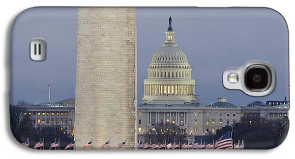 Washington Monument And United States Capitol Buildings - Washington Dc Galaxy S4 Case by Brendan Reals